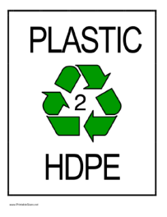 Recycle Symbol with 2 in the center