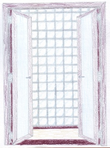 Artist's sketch of what the entry to the master suite might look like.