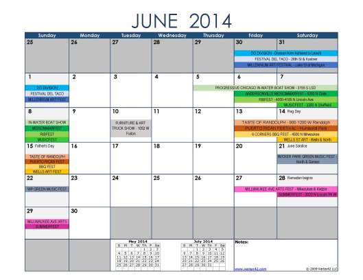 Summer Festivals June